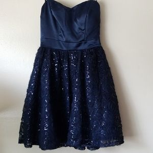 Navy Blue Formal Prom Special Occasion Dress
